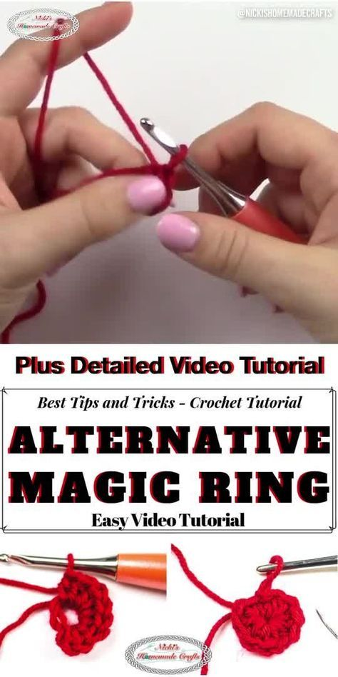 How to Crochet the Alternative Magic Ring Easily - Video Tutorial #magiccircle