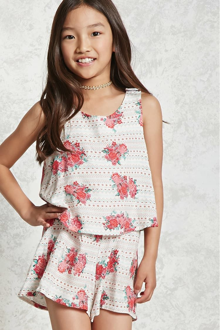652bf5f69336 Girls Cactus Print Dress (Kids) - Girls - Dresses - 2000135892 - Forever 21  Canada English