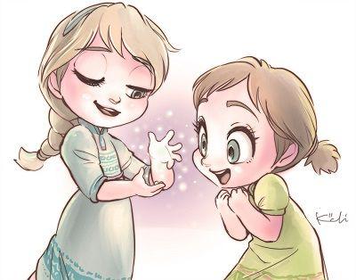 Kawaii Elsa And Ana Disney Drawings Frozen Disney Movie Disney Art