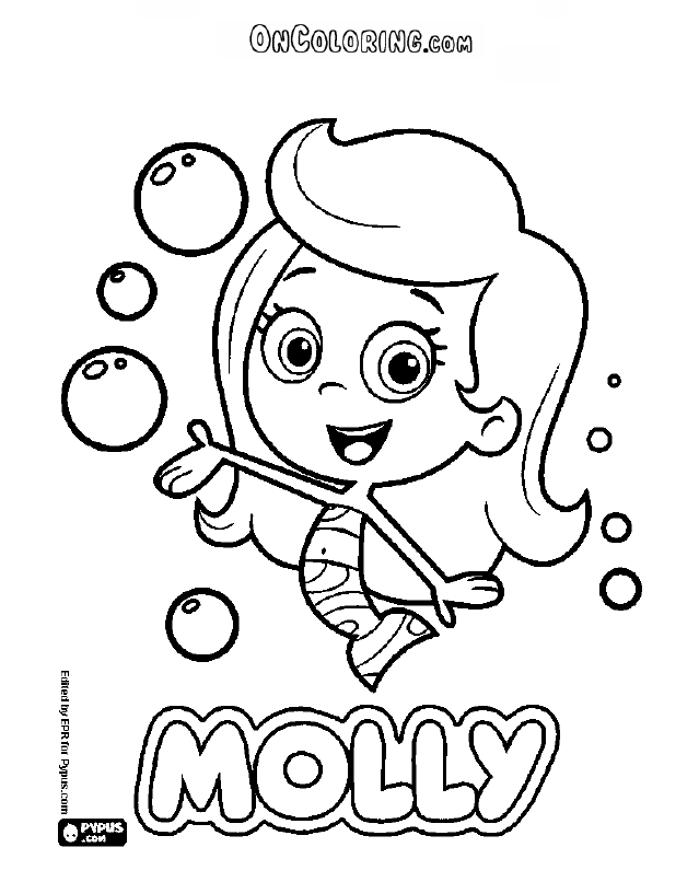 The Mermaid Molly Of Bubble Guppies Coloring Page Printable Game