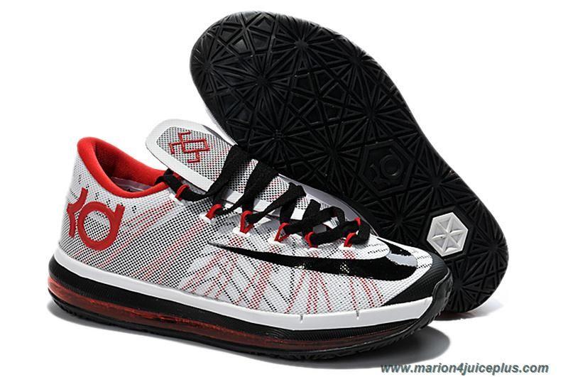 e5194ce56f1a Nike KD VI Elite Black White Red Custom Outlet