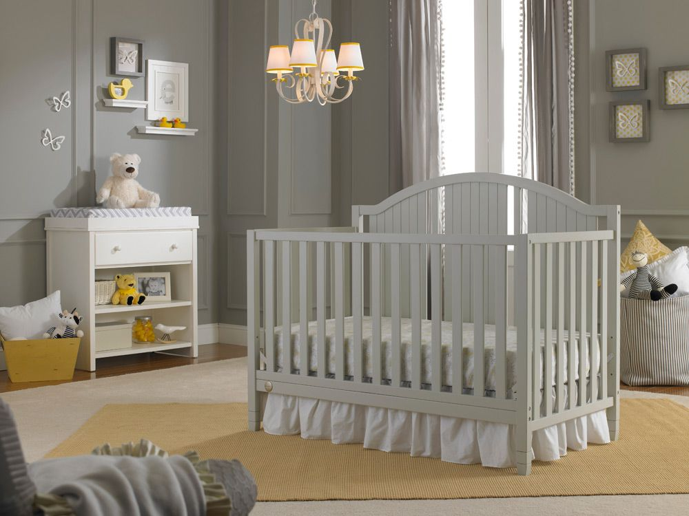 Fisher-Price Caitlin Convertible Crib in Misty Grey | Baby Nursery ...