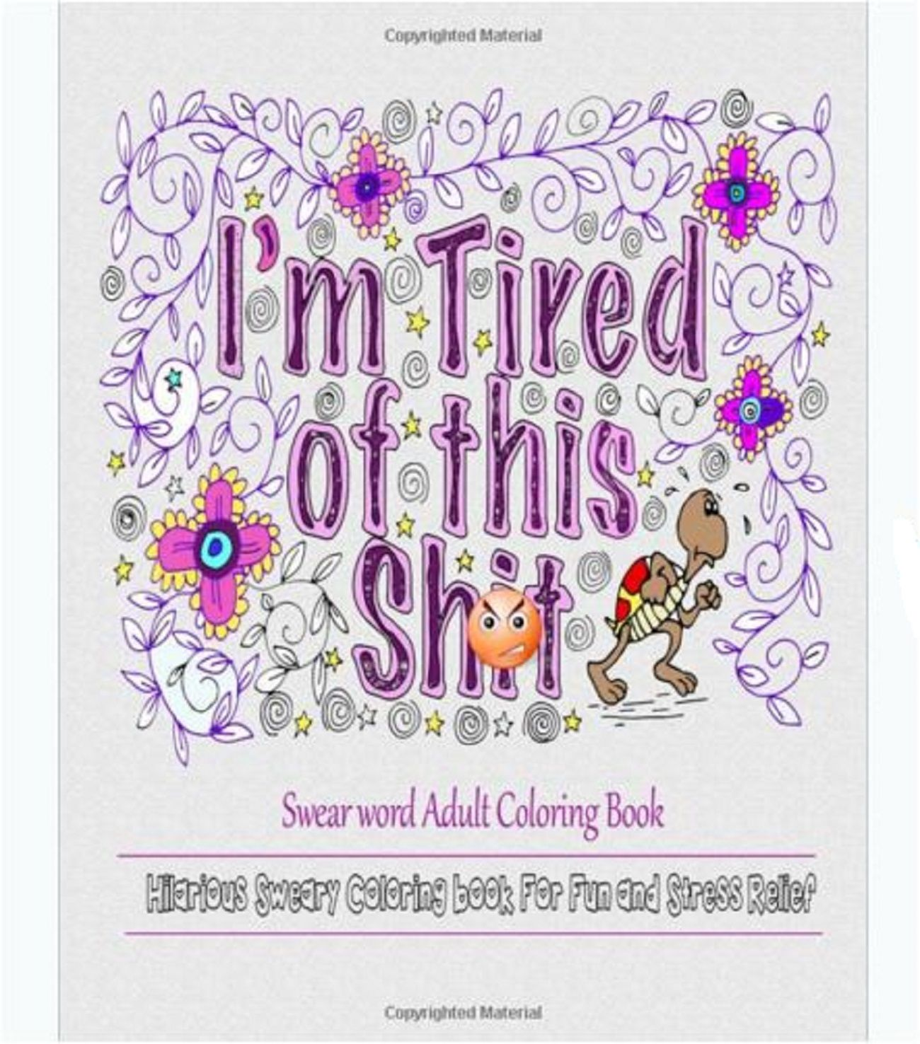 Colouring in book swear words - Adult Coloring Book Swear Words Design Fun Stress Relief Gift Sweary Patterns