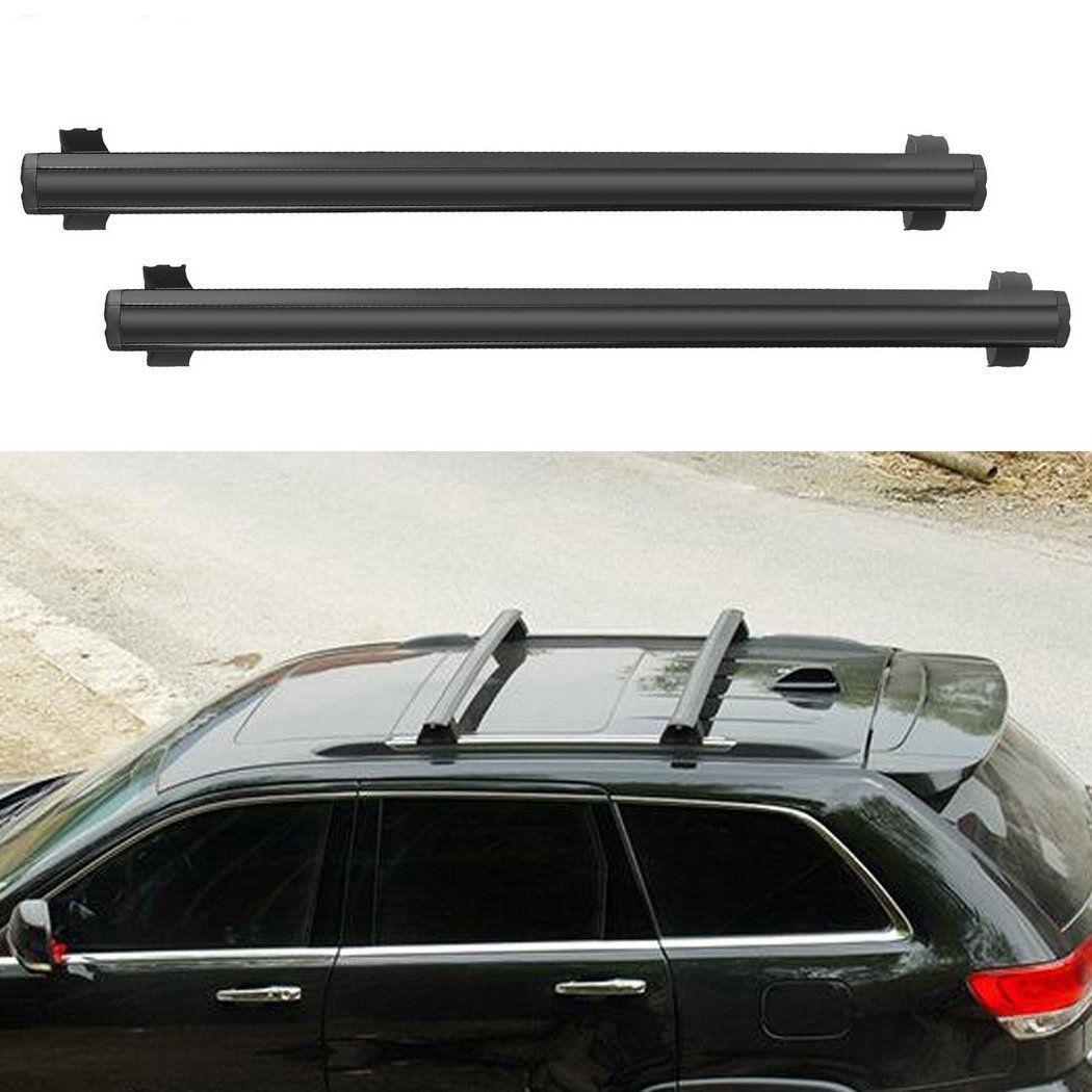 Black Front And Rear Roof Rack Cross Bars Set For 2011 2017 Jeep
