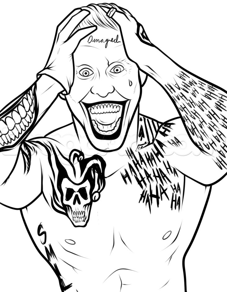 Joker suicide squad coloring pages for adults