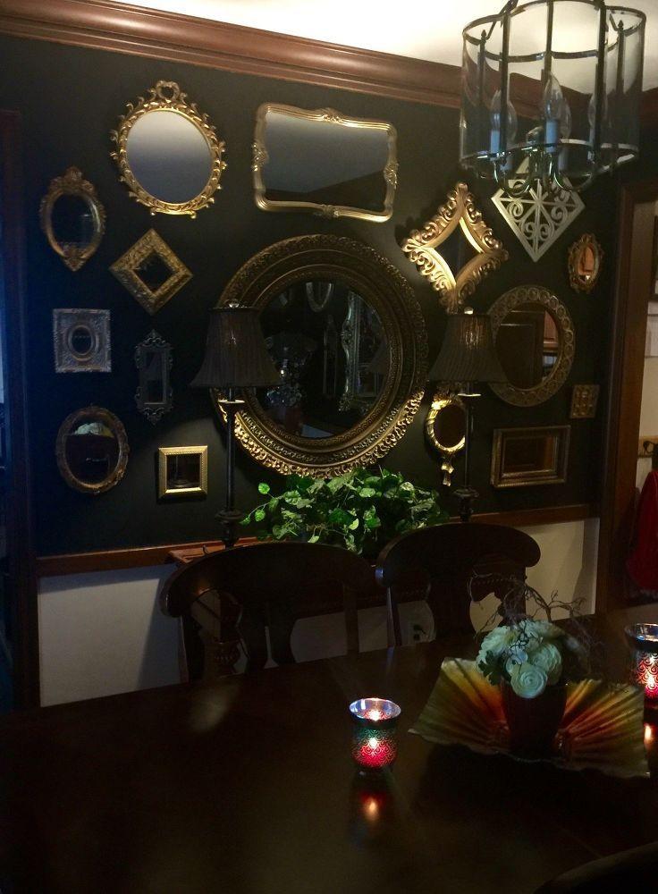 Black mirrored dining room mirror black mirror diy