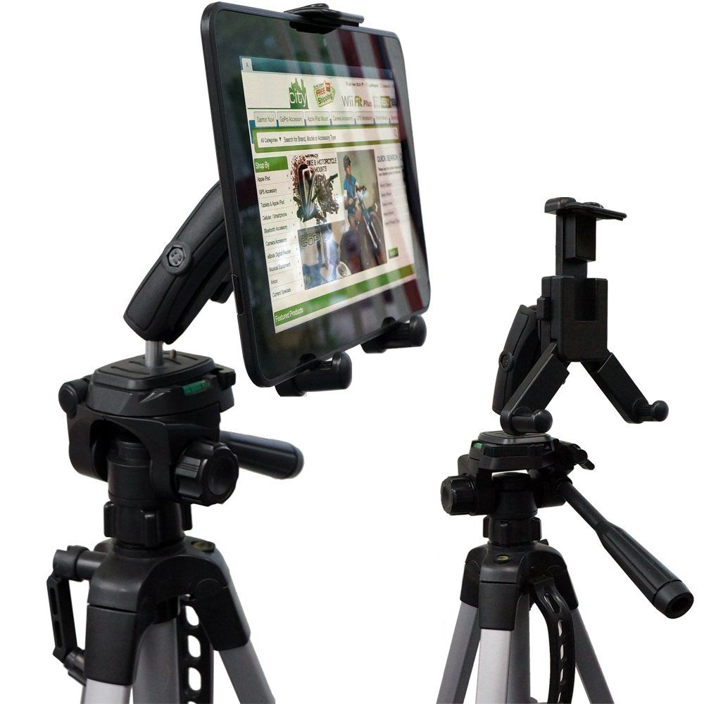 Amazon Com Chargercity Hdx 2 Tablet Selfie Video Camera Recording Tripod Adapter Mount W Dual 360 Swivel Adjustment Jo Video Camera Tablet Holder Galaxy Tab