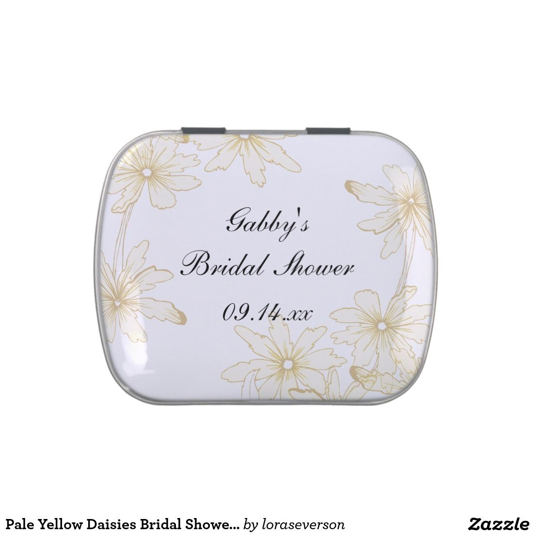 Pale Yellow Daisies Bridal Shower Favor Candy Tin   Bridal Shower ...