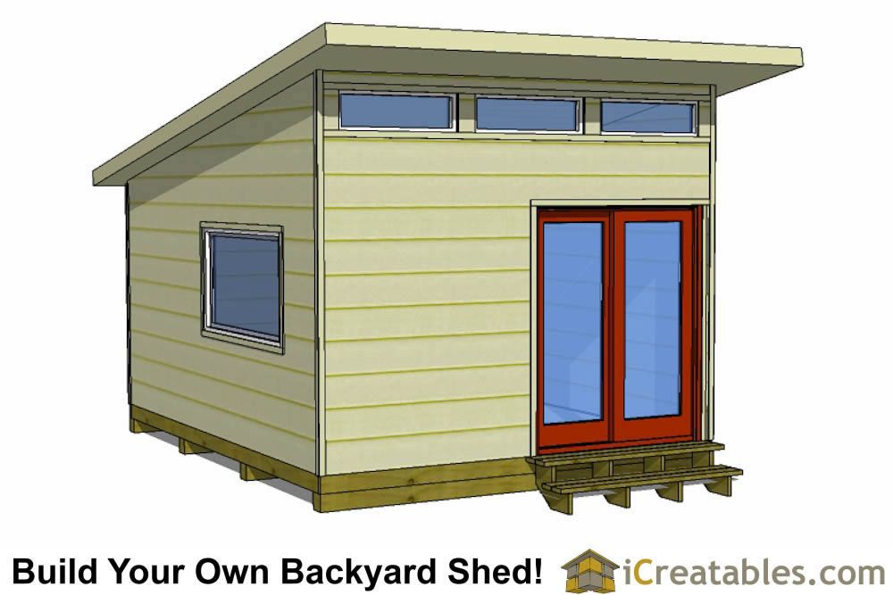 office shed plans. 16x12 Modern Shed Plans - Office