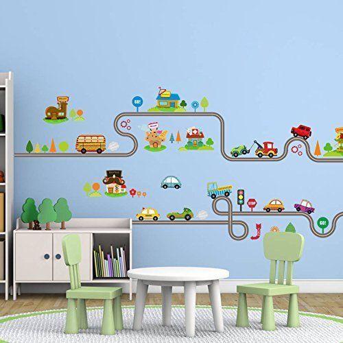 Art Wall Decal DIY Vinyl Car Children Cartoon Remove Bedroom Kids Wall  Stickers