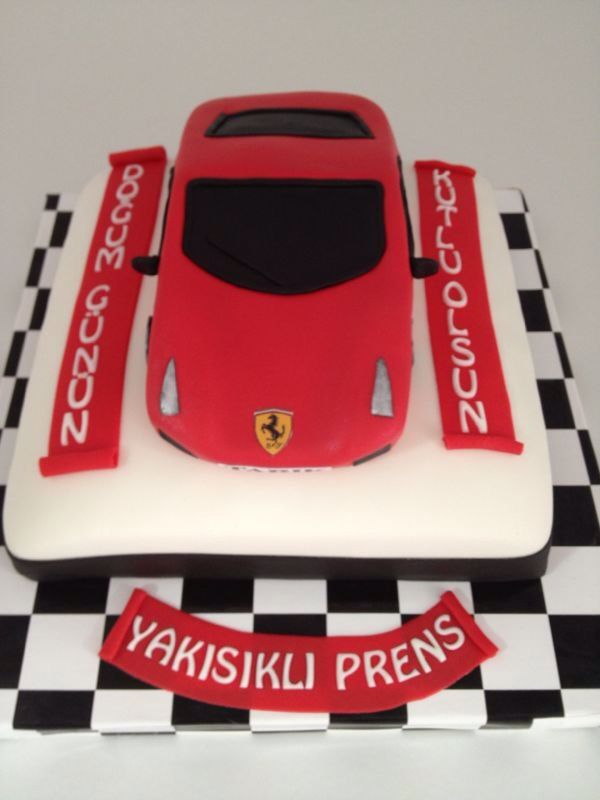 #car #ferrari #boy #red #cake #fondant #gumpaste #sugarpaste