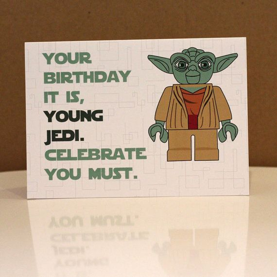 Lego Starwars Yoda Birthday Card 2 50 With Free Uk Postage Www Designedbywink Etsy Com Funny Star Wars Gifts Lego Star Wars Birthday Star Wars Birthday
