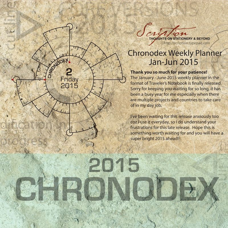 Chronodex 2015 free printable Midori Traveleru0027s Notebook - agenda download free