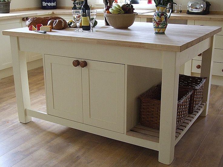 An old stile portable kitchen island design | Mobile kitchen ...