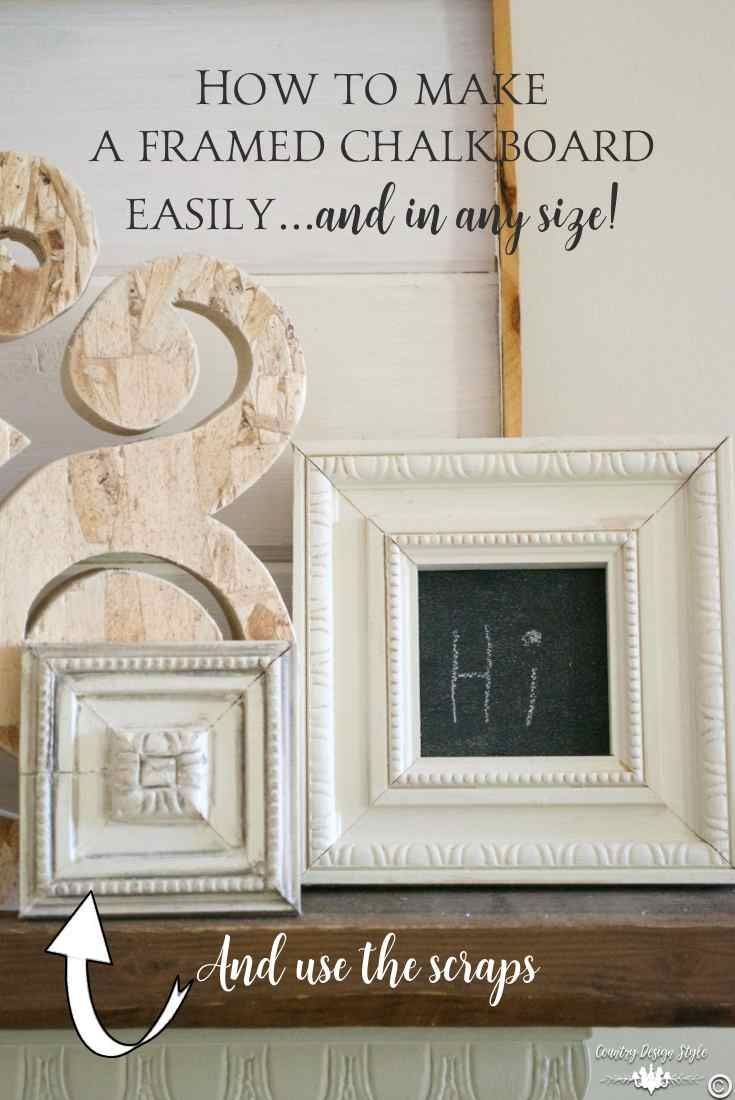 How to make a DIY framed chalkboard easily | Crafts with Found or ...