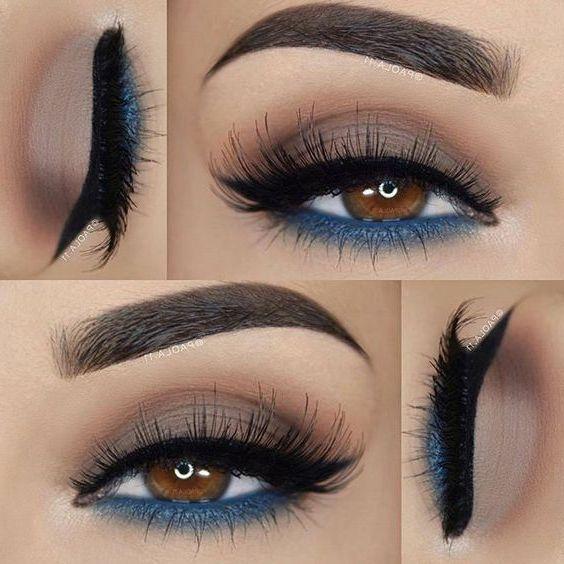 52 Beste wunderschöne und modische braune Augen Make-up-Design für Abschlussball oder Party