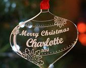 Personalised Christmas Tree Decoration Merry Christmas Bauble