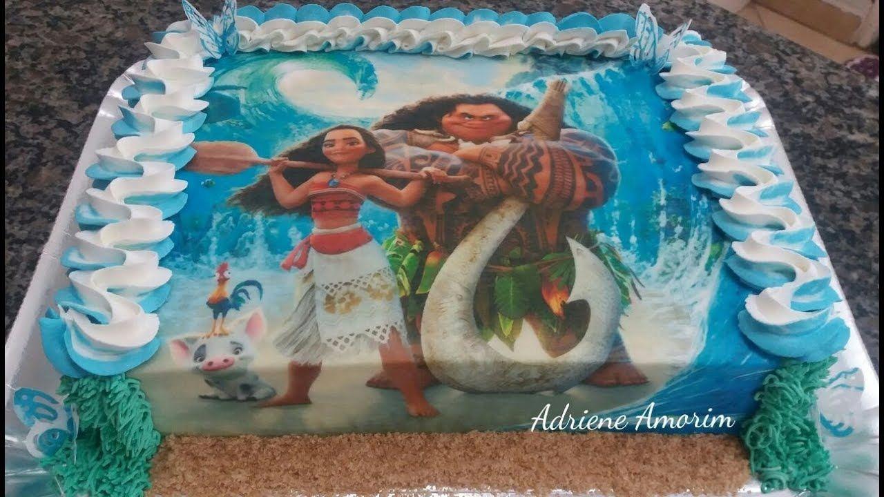 Decorando Bolo Moana Con Imagenes Pasteles De Moana Fiesta De