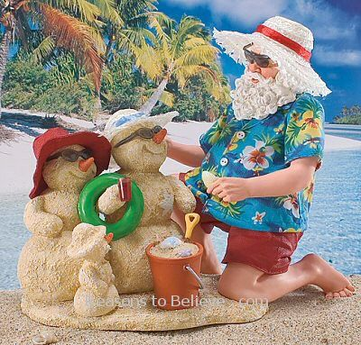 a29e1b1b Santa's Sand Family | Santa Claus Figurines and Hand Carved Wooden ...