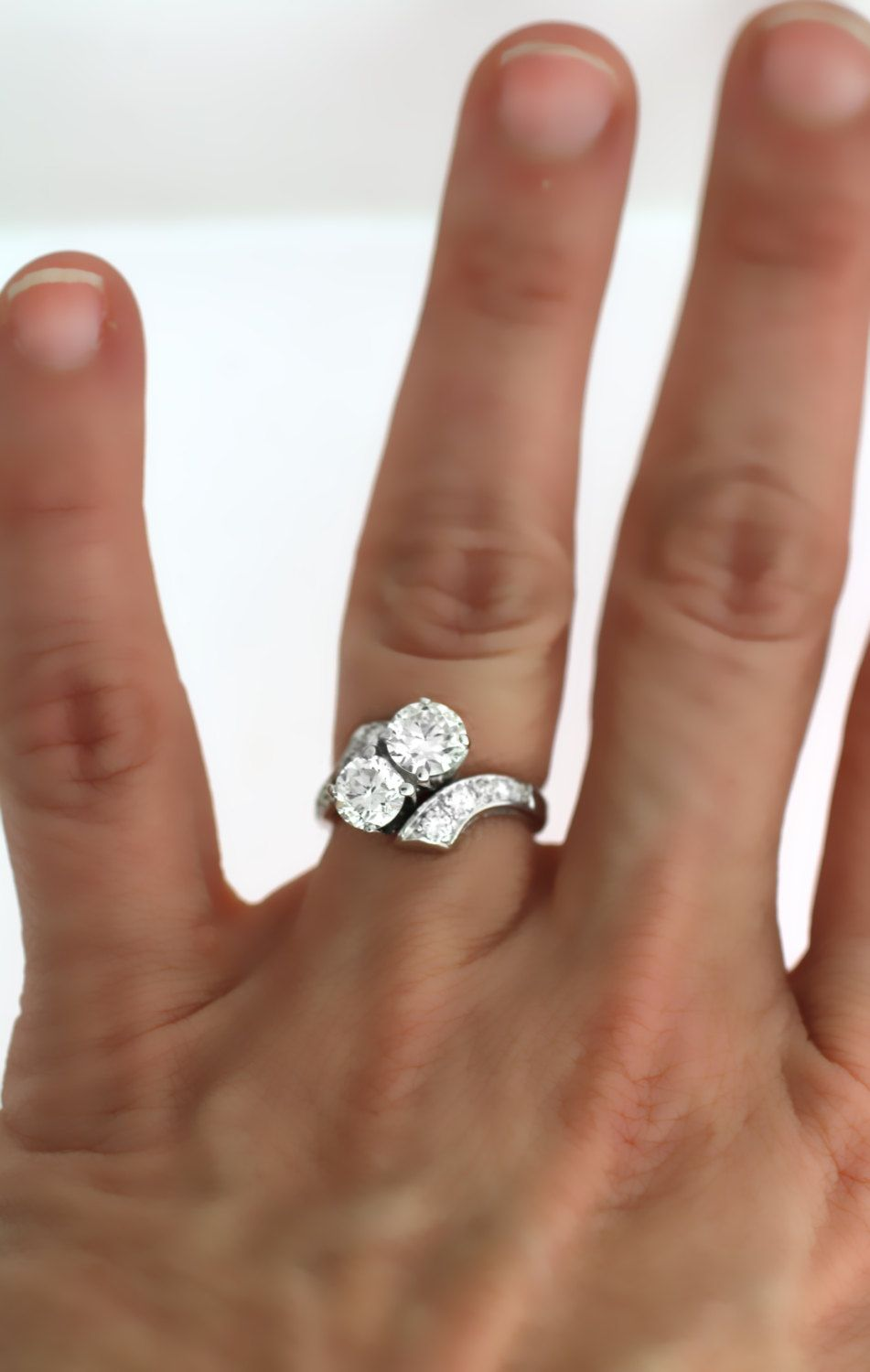 Vintage 1940s 1.96TCW Diamond Engagement Ring by WhitesVintage on Etsy