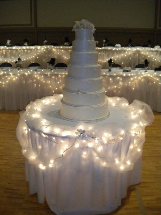 7 tier wedding cake @ St. Nicholas Cathedral, Pittsburgh, PA #weddingcakes
