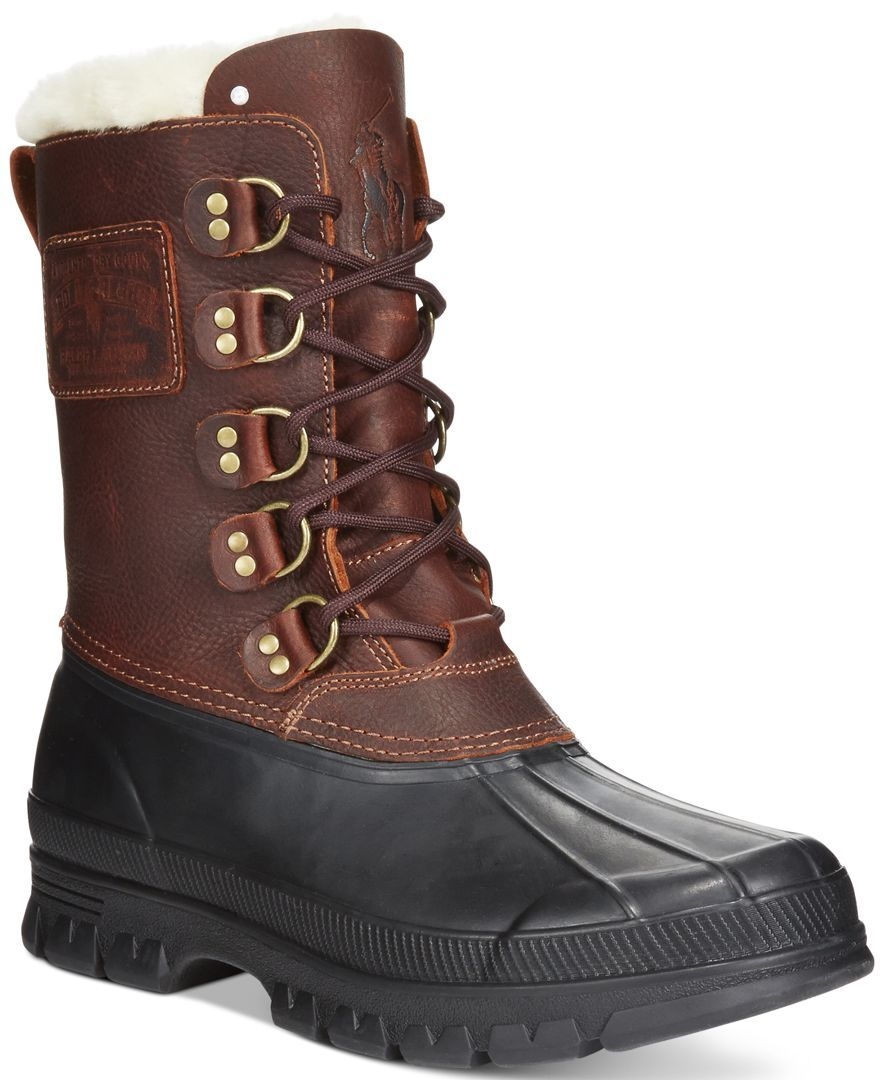 3e8a01c129a Polo Ralph Lauren Longhirst Duck-Toe Shearling Snow Boots | Shopping ...