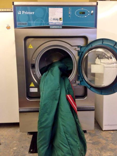 Blanets Washing In A Machine