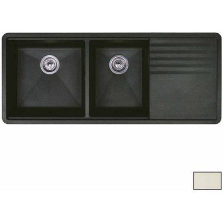 Blanco 441471 Precis 20 Inch X 48 Inch Double Basin Granite Undermount Residential Kitchen Sink With Drainboard Available In Various Color Products In 2019