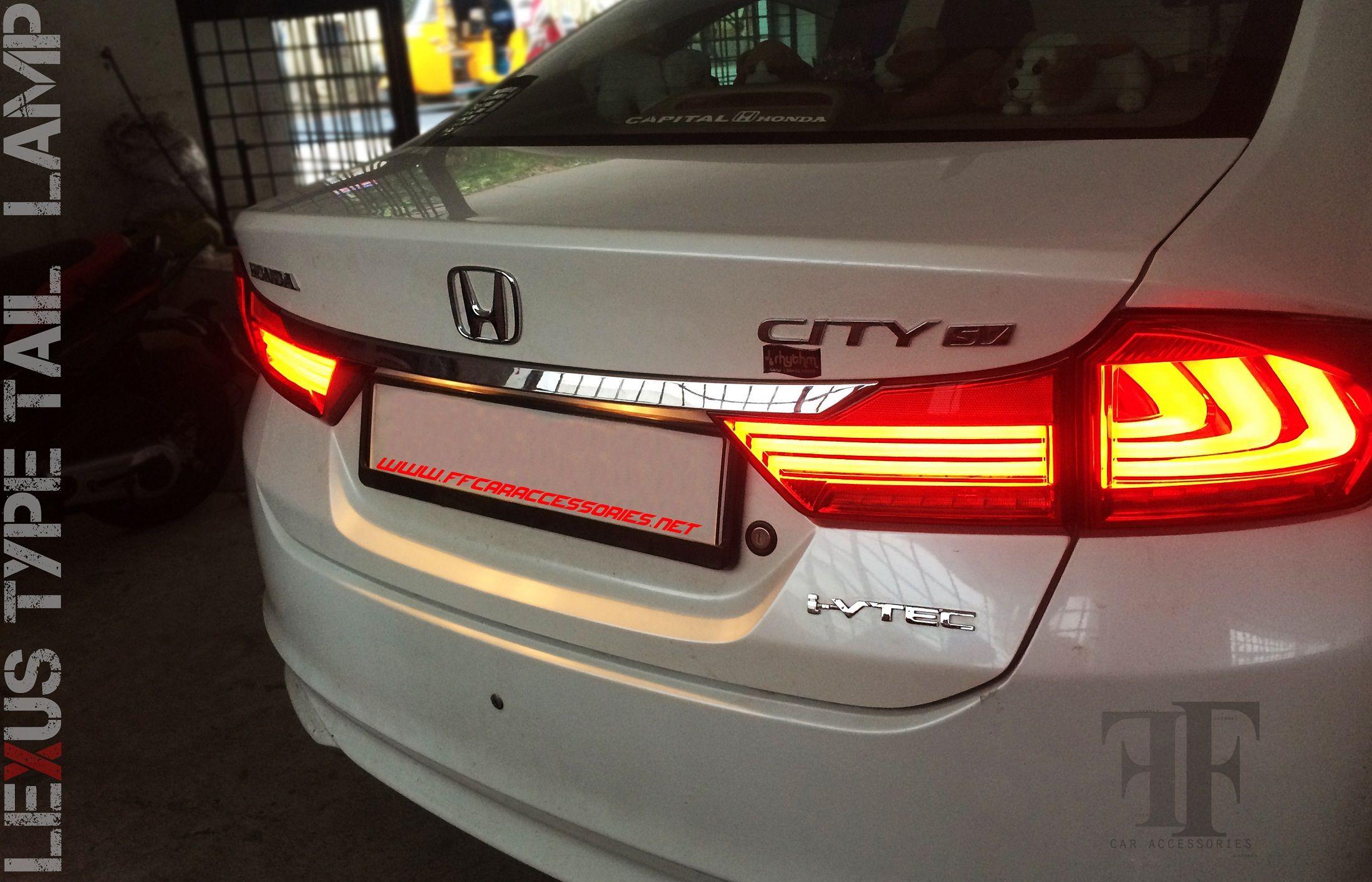 lexus type tail lamp conversion on Honda city Car