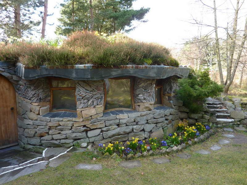 Diy Stone House Hobbit House Plans Green Roof Green Roof System Living Green Roof