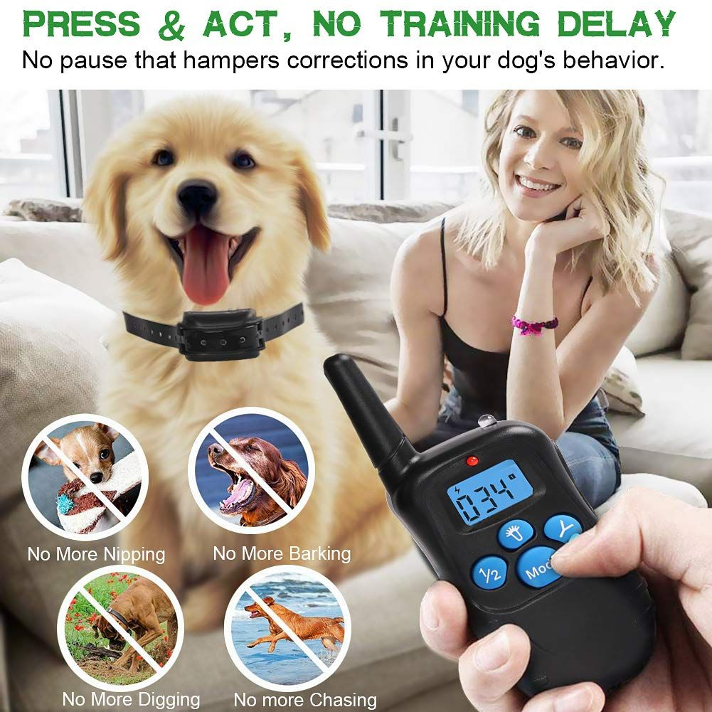 Remote Dog Training Collar 100 Waterproof And Rechargeable Dog