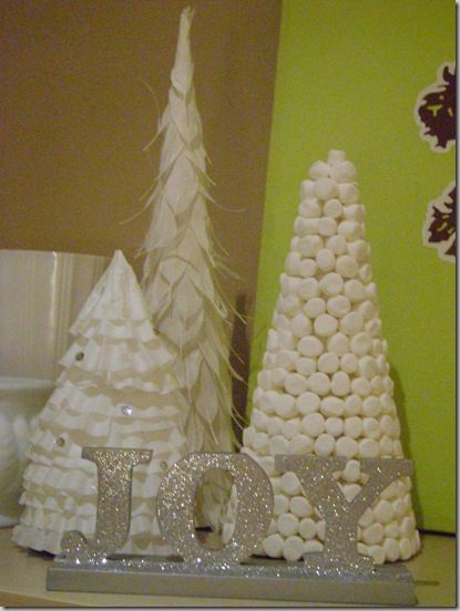coffee filter tree christmas concert christmas candy 053