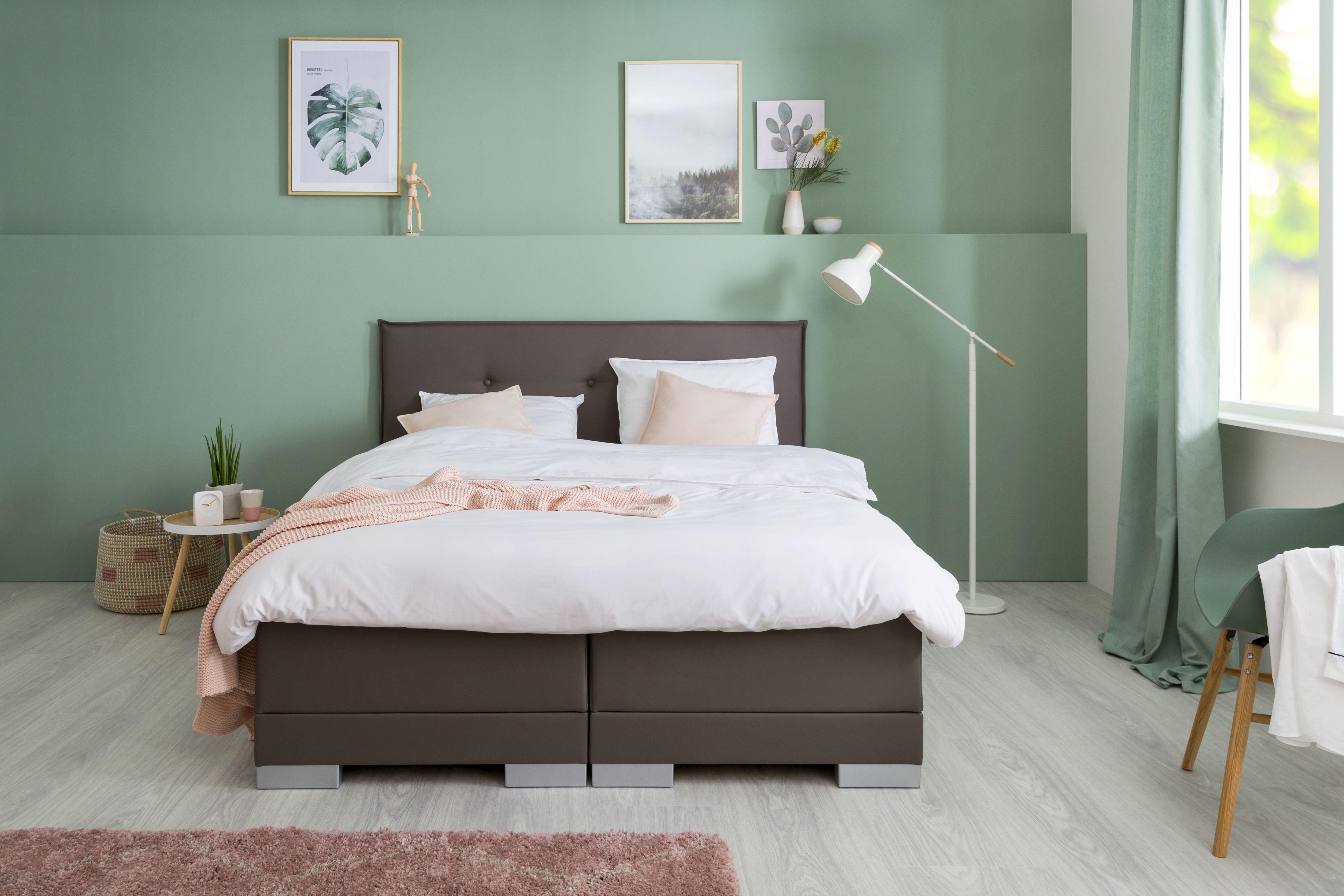 één van onze mooie boxspringlease modellen boxspring slaapkamer groen