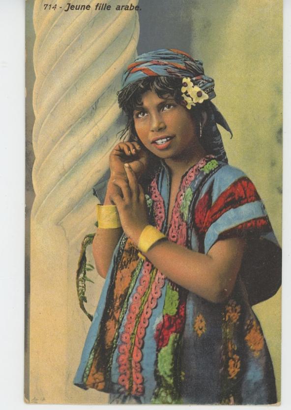 Ethniques Et Cultures Afrique Du Nord Jeune Fille Arabe Edit Lehnert Landrock A Tunis En Vente Sur Delcampe Fille Arabe Jeune Fille Fille