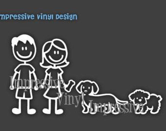Stick Family Custom Black Or White Vinyl By Impressivevinyldsign - Family decal stickers for carscar truck van vehicle window family figures vinyl decal sticker