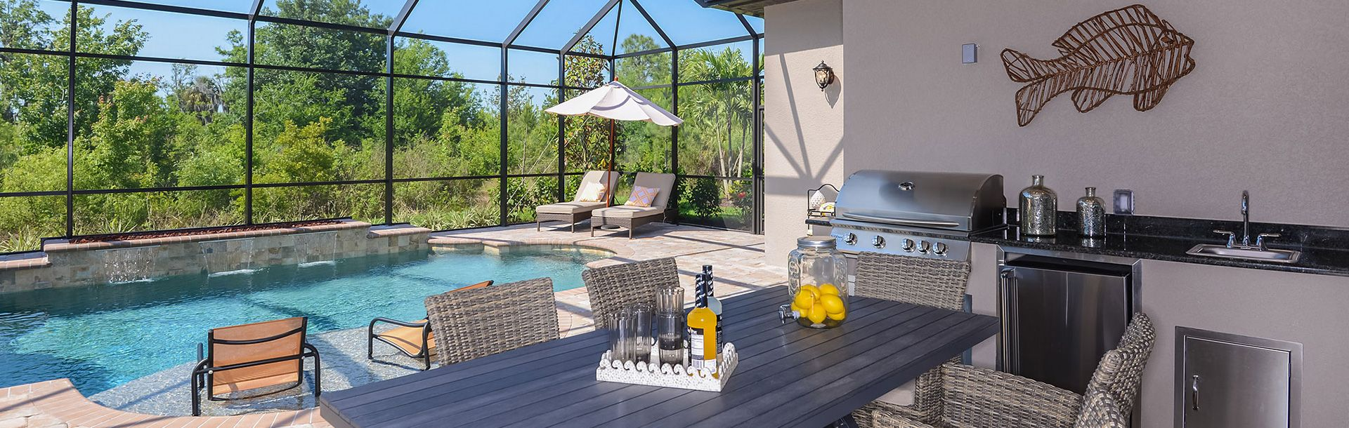 Outdoor Kitchen and Pool Backyard pool, Pool cover