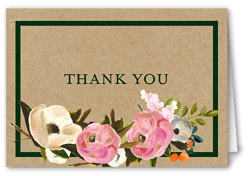Painted Flowers Wedding Thank You Cards remarkable pin