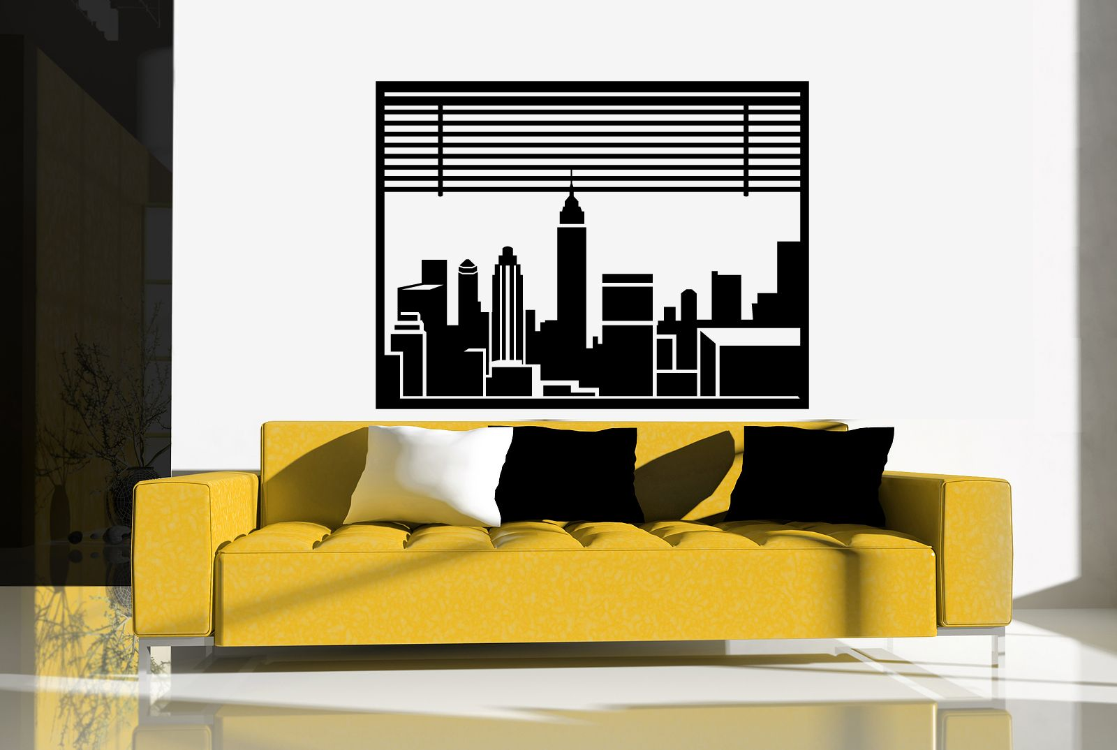 Modern Vinyl Wall Art New York City L Happy Wall Decals New York City Wall