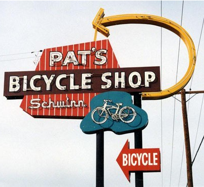 Pat S Bicycle Shop 2002 Mesa Arizona Vintage Neon Signs Old Neon Signs Advertising Signs