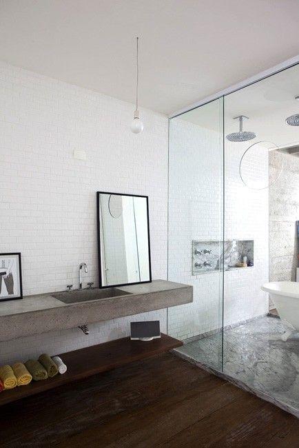 MUEBLES DE OBRA PARA EL BAÑO | Fotos de baños modernos ...