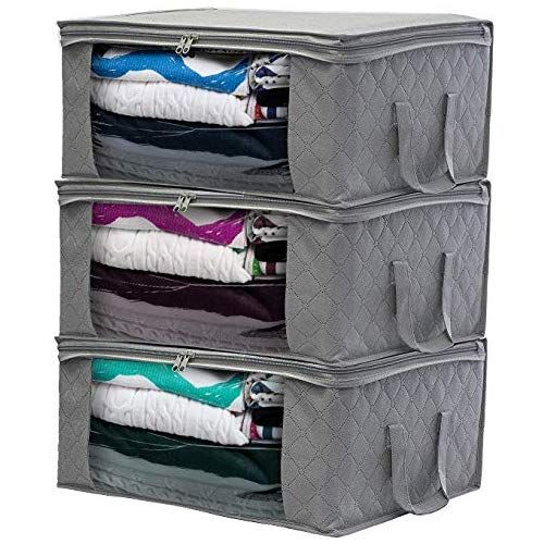 1aae713de66e Woffit Foldable Storage Bag Organizers, Large Clear Window & Carry ...