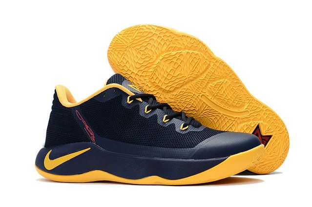 Nike Zoom PG 2 Discount Nike PG 2 Dark Blue Yellow Basketball Shoe For Big Discount