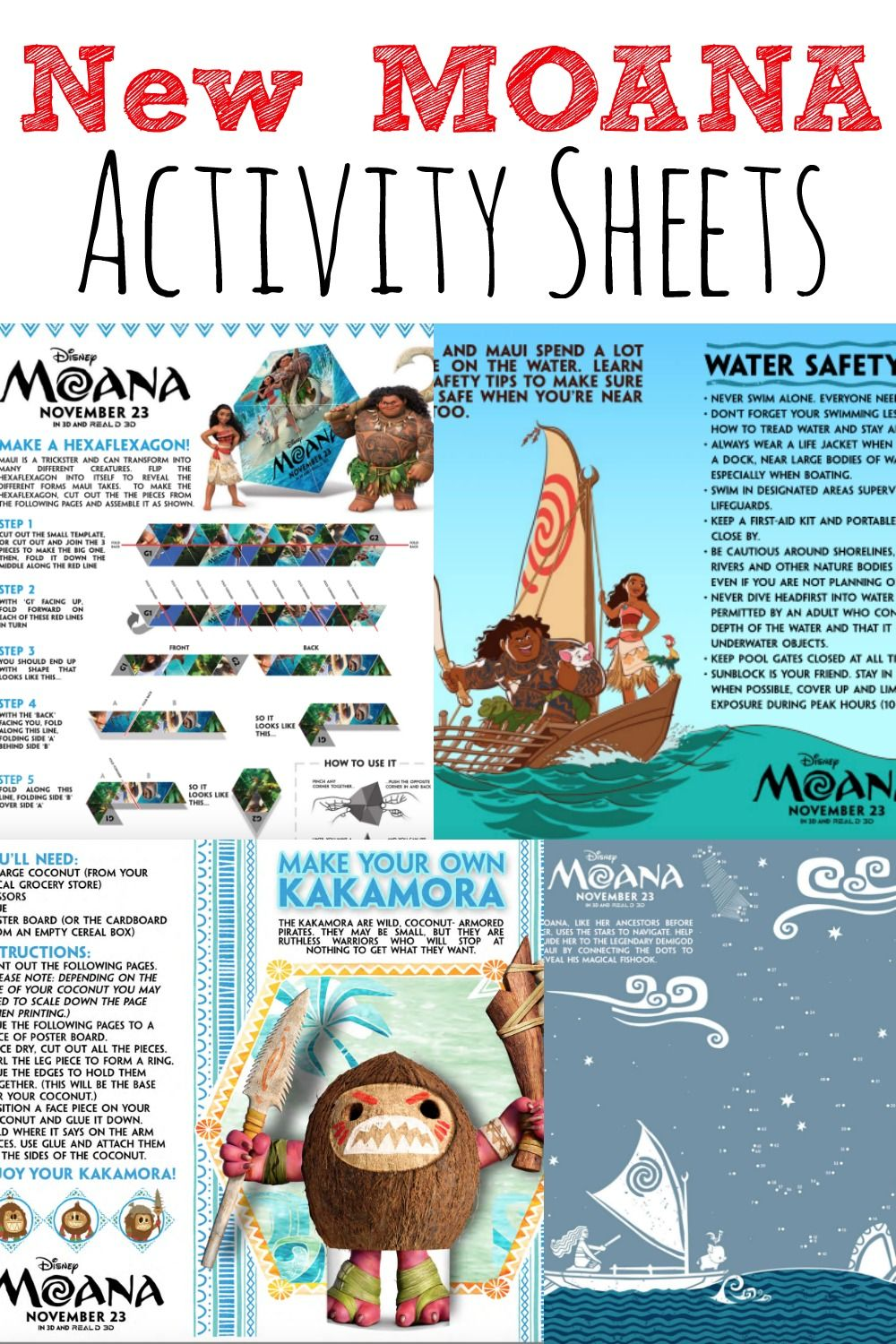 New Free MOANA Activity Sheets and Coloring Pages For Kids ...
