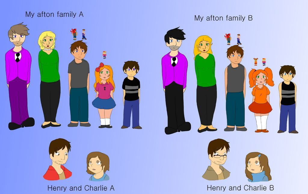My Afton Two Universe By Jounefr On Deviantart In 2020 Afton Fnaf Hunter Anime