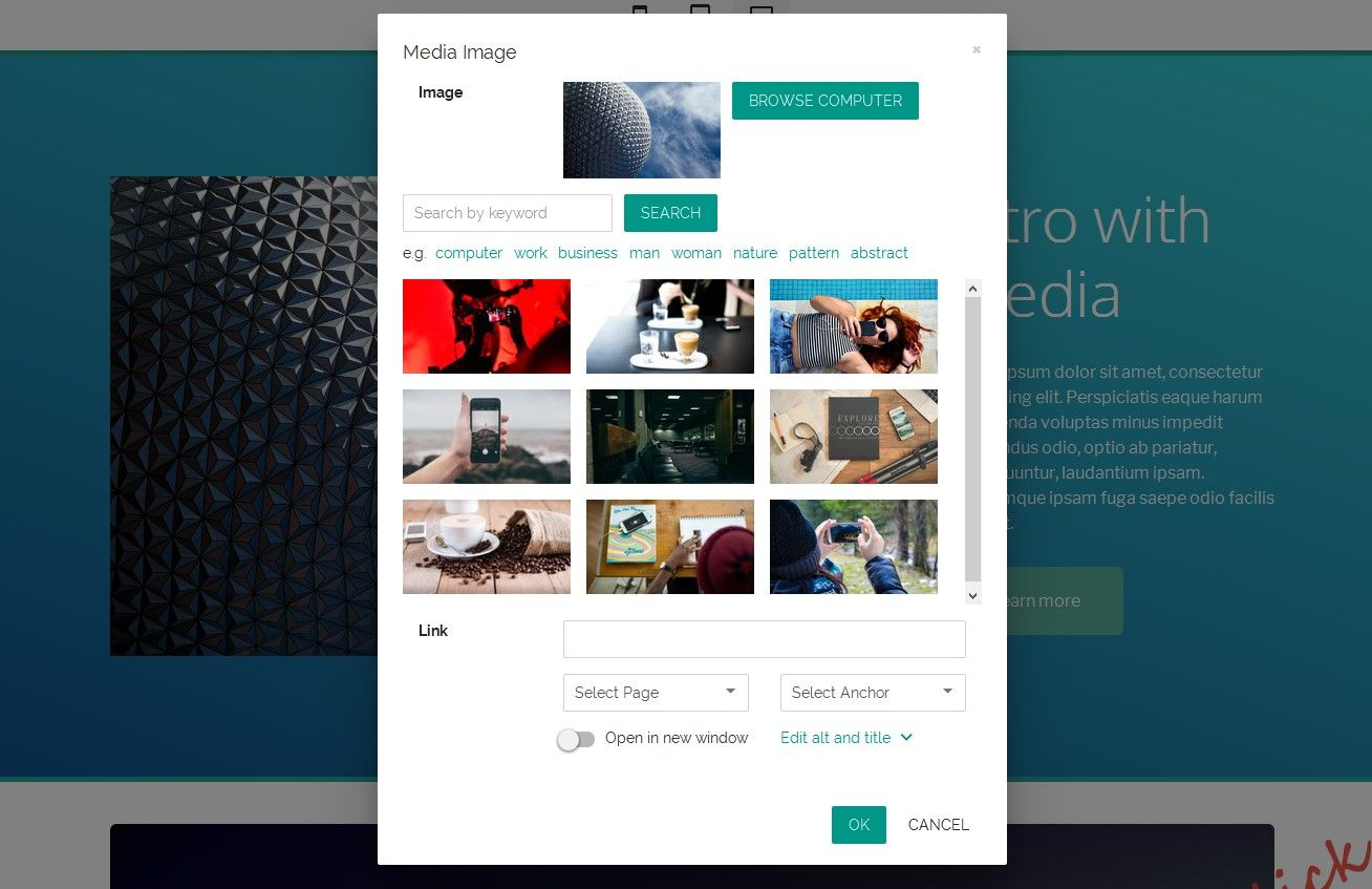 Mobirise Website Builder V3 10 New Directm Business Theme 80 Blocks With Gradients Forms Tables Tabs Acc Builder Website Website Builder Free Media Images