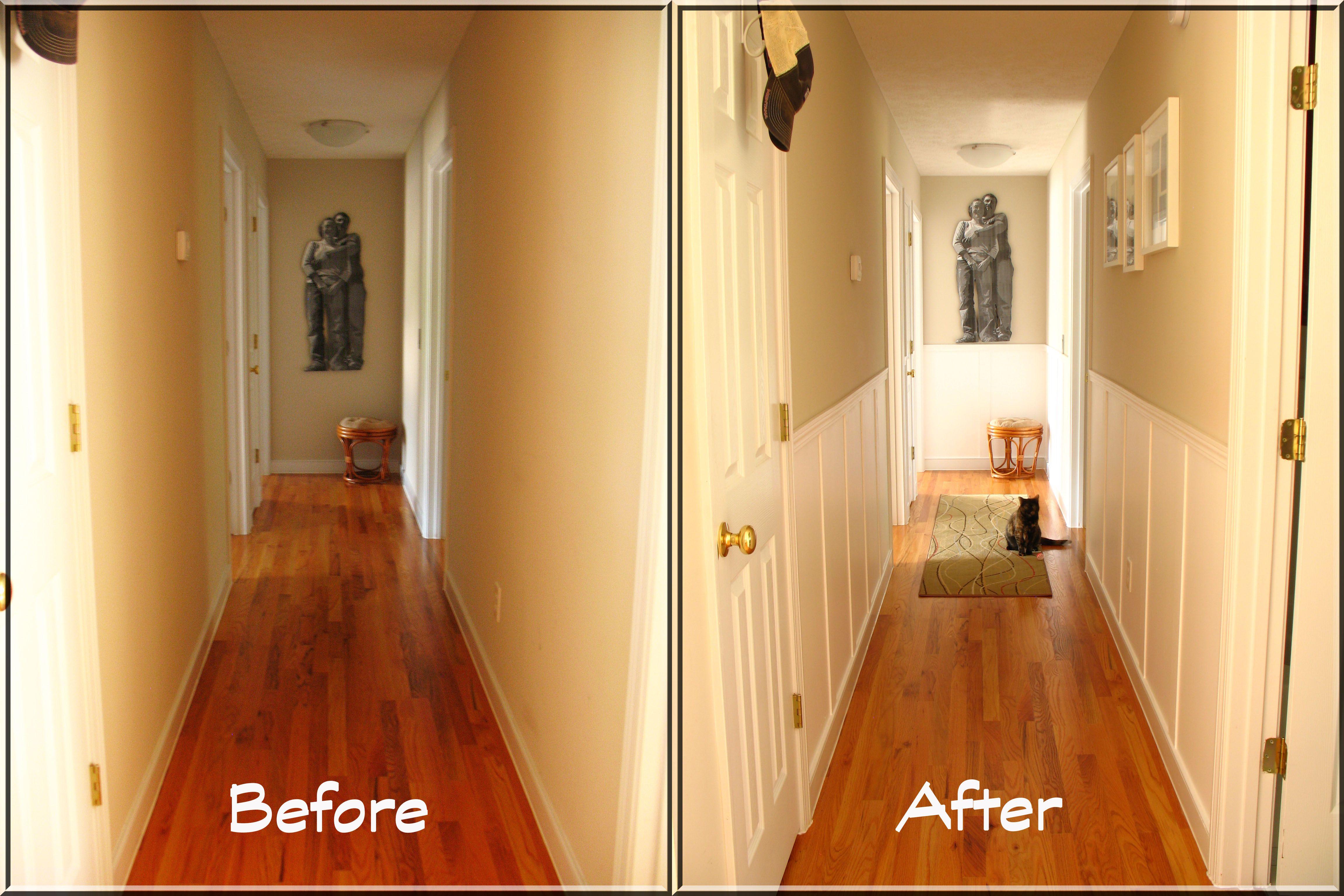 plain hallway makeover | house ideas | Pinterest | Gallery wall ...
