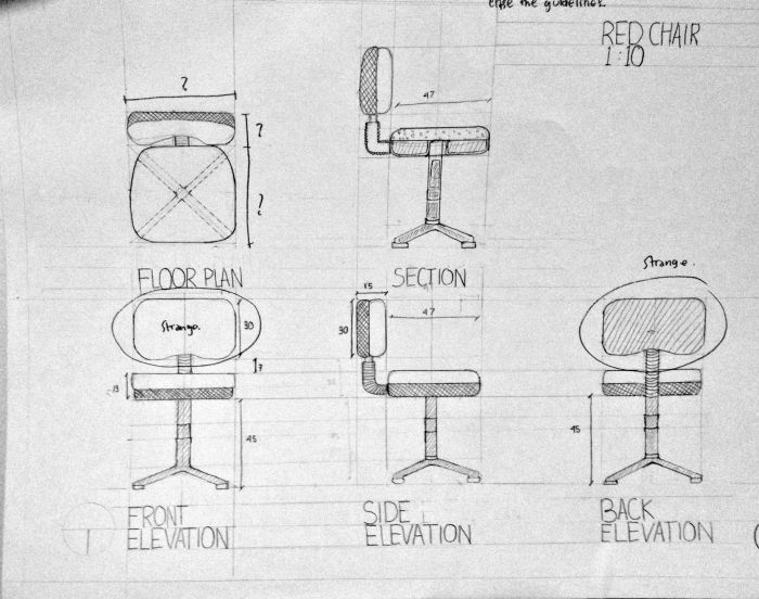 Architectural Drawing - Computer Chair