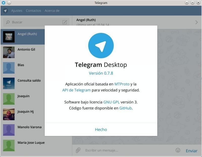 Telegram Desktop la versión de Escritorio para Telegram