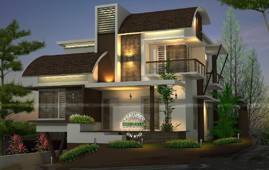 CURVE ROOF DRAINAGE - Google Search | Duplex house design ...