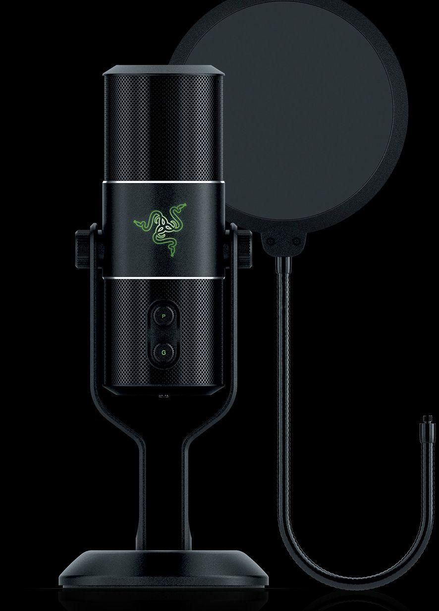 Razer Debuts Seirēn Digital Microphone With Studio Grade Recording Quality Gaming Microphone Razer Pc Games Setup